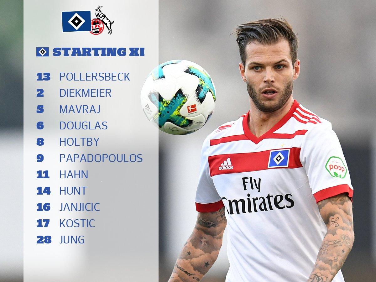 RT @HSV_English: The boys are ready 👊 Here's our line-up against @fckoeln_en! 🔵⚪⚫  #nurderHSV #HSVKOE https://t.co/hhtKnD0SdM
