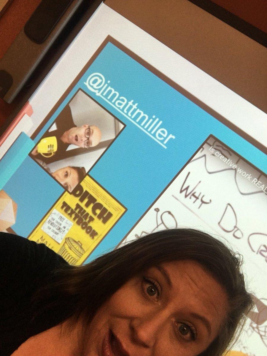 Let's do this, Miller! #caseforcreativity #flippedblooms #cuela #ditchbook @jmattmiller https://t.co/vSxuS9Lxi9