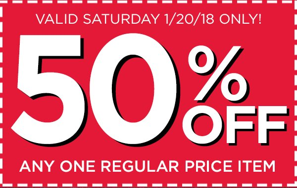 Turn your #SaturdayShopping into #SaturdaySavings with this 50% off #coupon: https://t.co/J1h0Zx7lEP https://t.co/FWXk5SFKDk