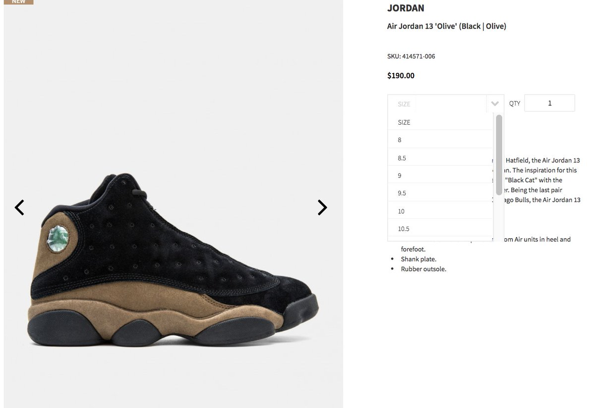 LIVE via UBIQ Air Jordan 13 Retro 'Olive'  => https://t.co/EwepMyOMyS https://t.co/QQlb4O19Cq