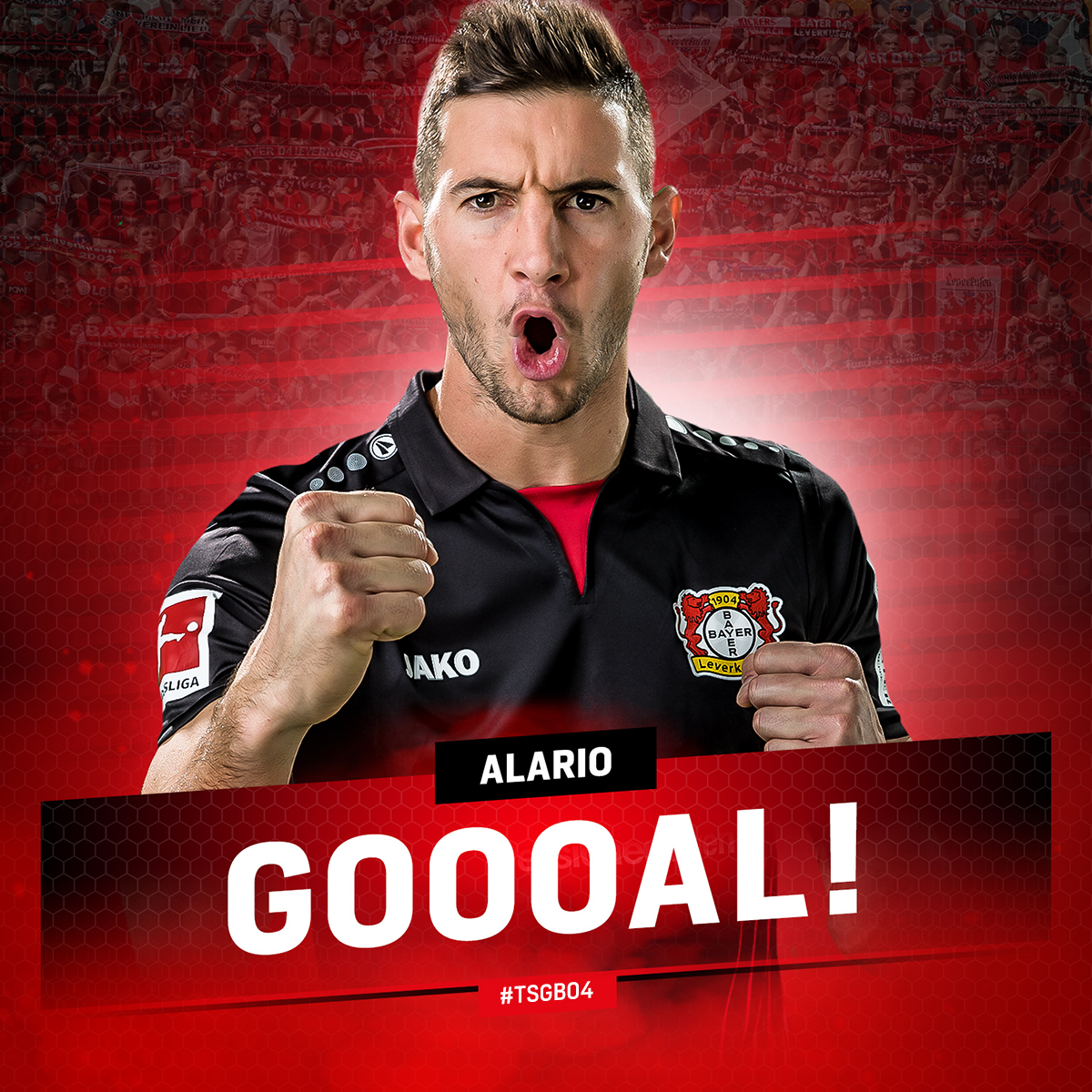 RT @bayer04_en: 71' ALARIOOOOOOOOOO!!  @lucasalario13 adds another goal to our tally!  #TSGB04 | 0:3 https://t.co/pU1LzH0Eza