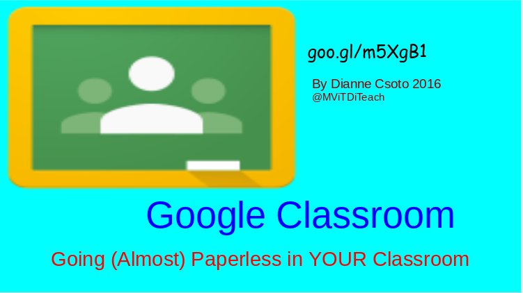 Check out Going (Almost) Paperless with Google Classroom at 11 #cuela https://t.co/jSVKntbBaL