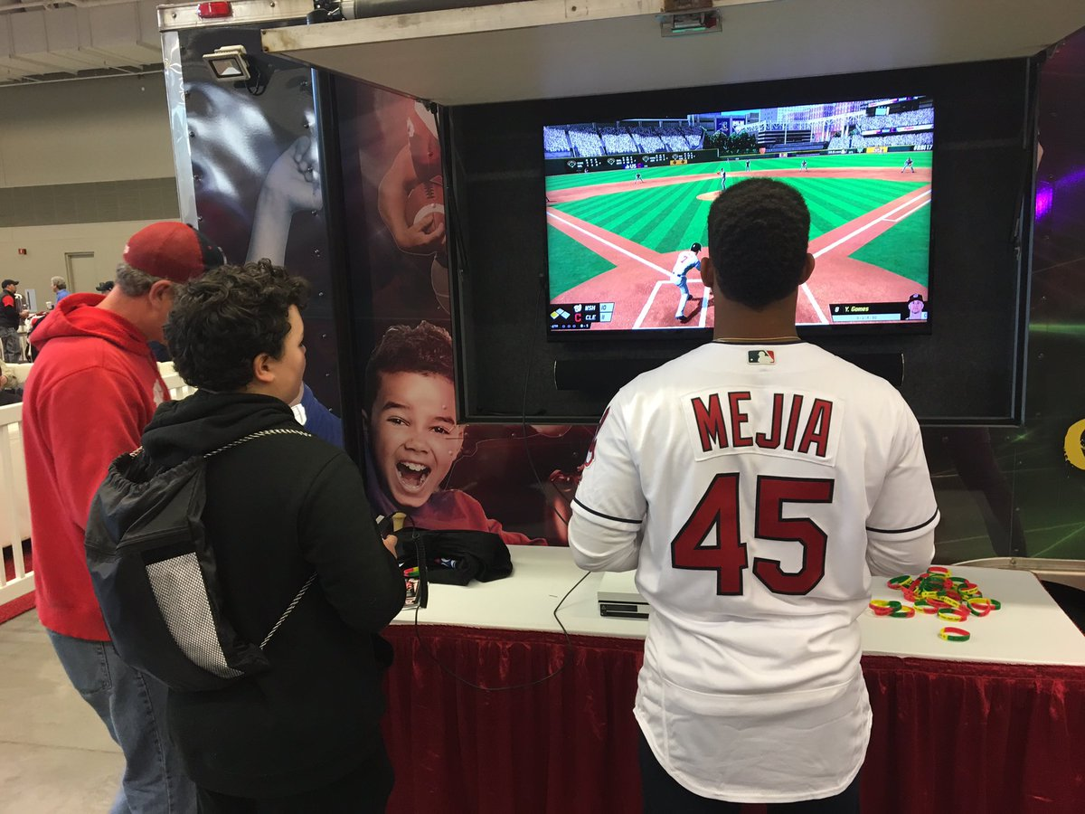 Little screen time for Cody Allen and Francisco Mejia at #TribeFest. https://t.co/HKUVNSoYQt