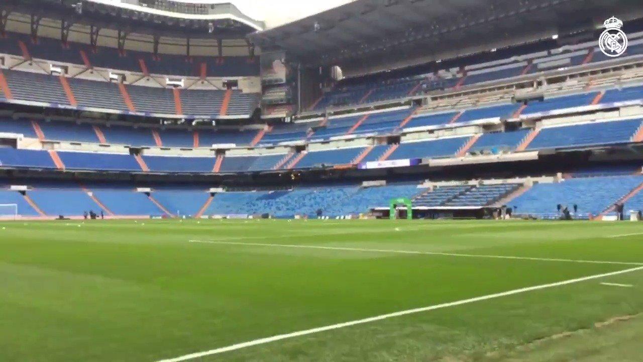 ��⚽  ¡Vuelve la acción de #RMLiga al Bernabéu en poco más de dos horas!   #HalaMadrid https://t.co/7WQHIqE14Q