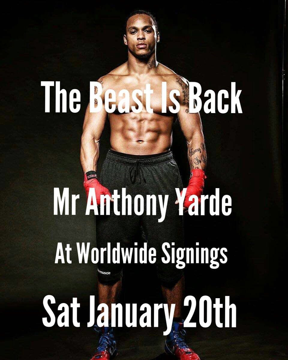 A week today  @mranthonyyarde @tundeajayi999  Will be #worldwidesignings in Romford  Signing gloves, boots,photos  Don't miss it  Tunde Ajayi 🎓 https://t.co/94TQcRcwO2