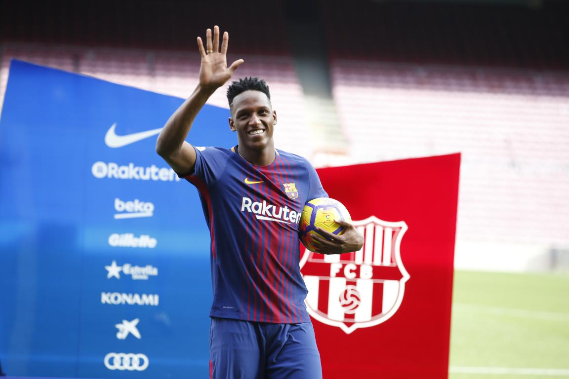 �� Yerry Mina �� #BeBarça #ForçaBarça https://t.co/PMEdydlXh2