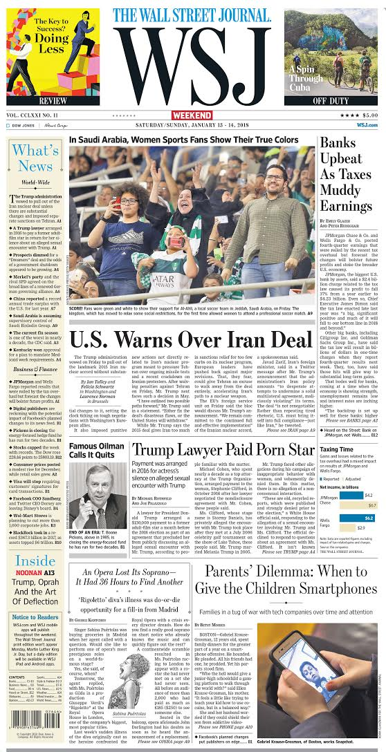 Take a look at the front page of today's Wall Street Journal https://t.co/w2vU60X7m1 https://t.co/uKH9yzbmRu