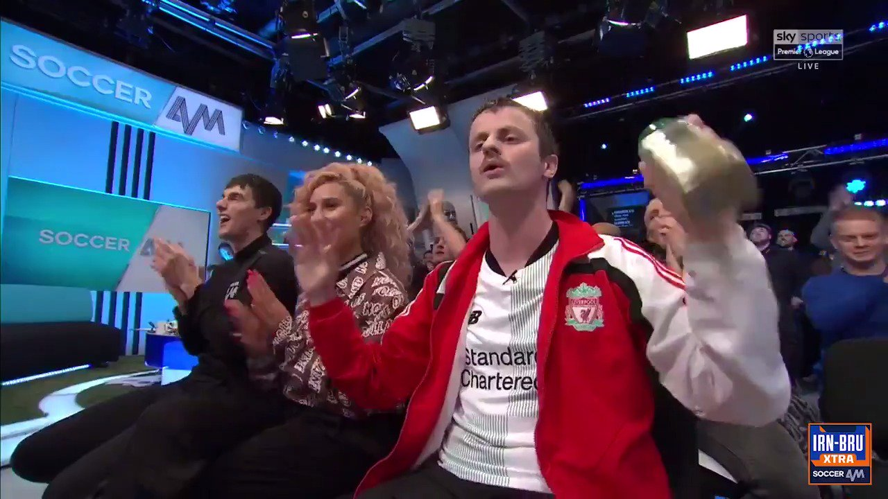 The greatest Liverpool song of all time...LIVE IN THE STUDIO! #SalahDooDooDooDooDoDo �� https://t.co/5jtCB86ZNg