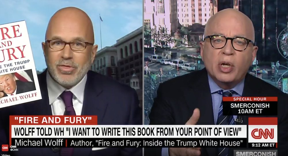 WATCH: Author of explosive Trump book spars with CNN host in tense interview https://t.co/KLJvPA0xME https://t.co/0N60hWXCEI