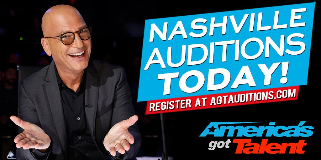 Nashville, today's your chance! Come see us at #AGT auditions today. https://t.co/uhLNpsU1eS https://t.co/6wHK89A4Ns