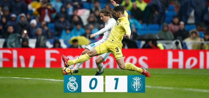 FP: #RealMadrid 0-1 @VillarrealCF (Fornals 87').  #RMLiga https://t.co/8z4Bsie3Cg