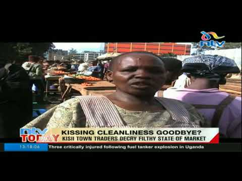 Kisii town traders decry filthy state of market