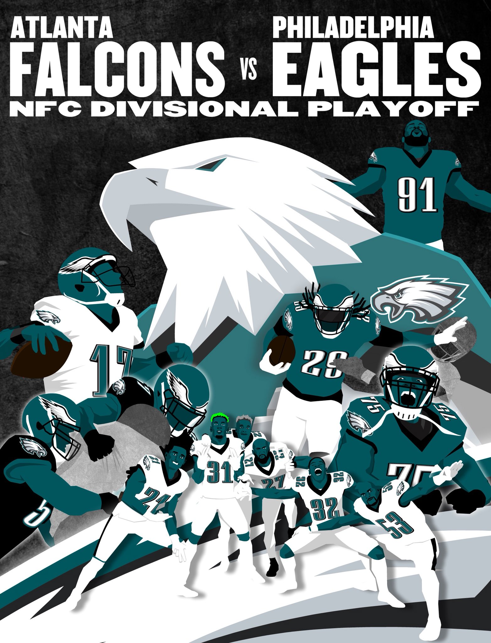 GAMEDAY  #ATLvsPHI | #FlyEaglesFly https://t.co/10yW2xMPhe