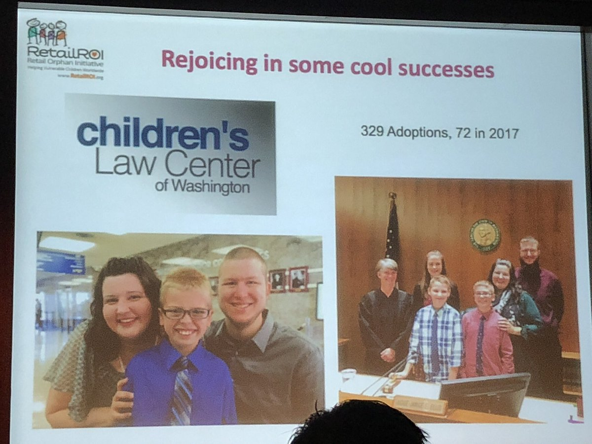 Children's Law Center helped complete 329 adoptions so far, 72 in 2017 #ROISS @RetailROI #NRF2018 https://t.co/kTSWE0H3To
