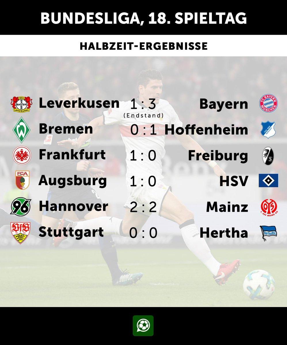 RT @iMFootballNews: So sieht es zur Halbzeit aus. #Bundesliga #svwtsg #SGESCF #FCAHSV #H96M05 #VfBBSC #B04FCB https://t.co/nKykOwr5iD