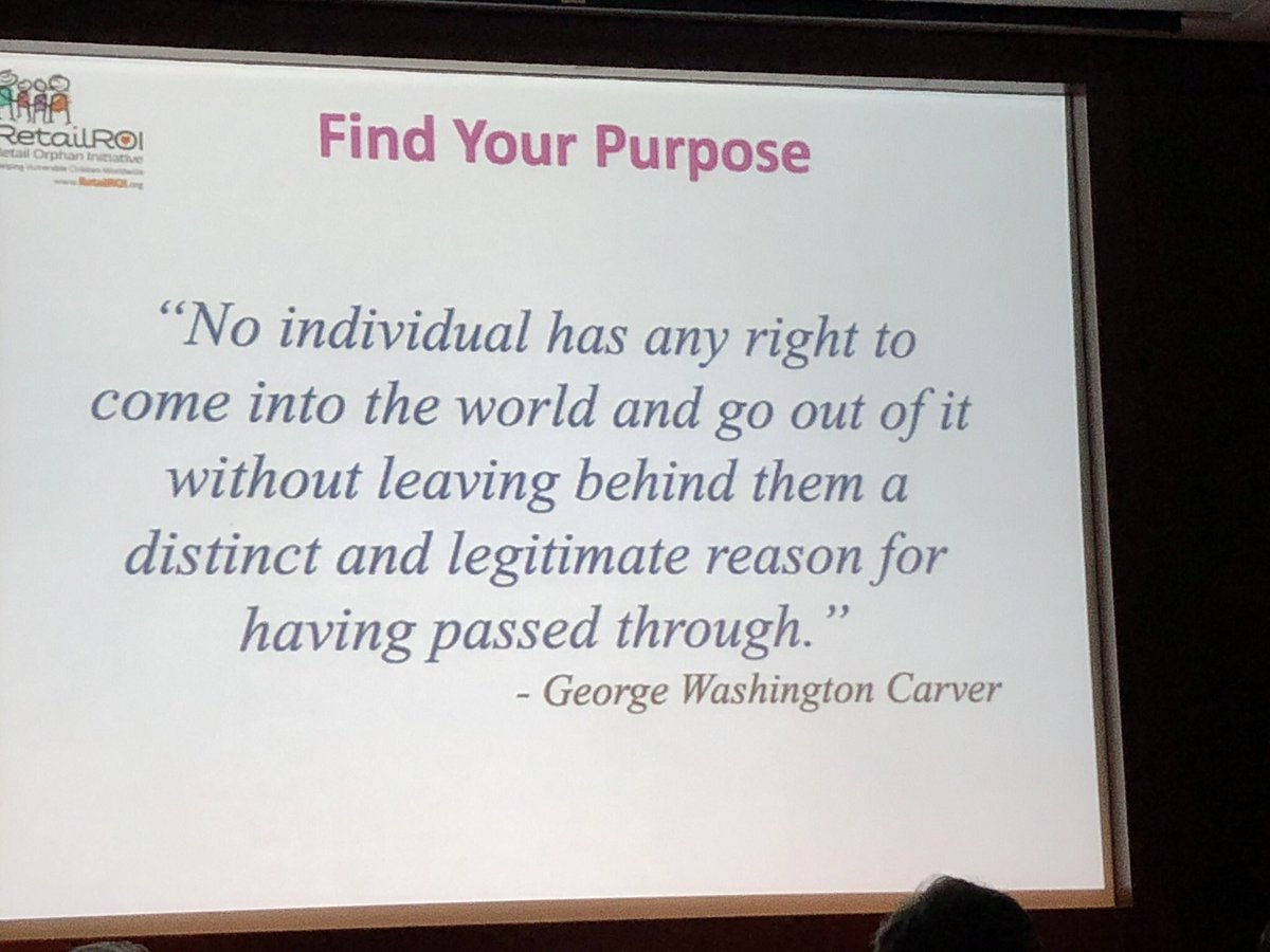 Find your purpose - it will be powerful! @gregbuzek #ROISS @RetailROI #NRF2018 https://t.co/sldtKJ1G8E