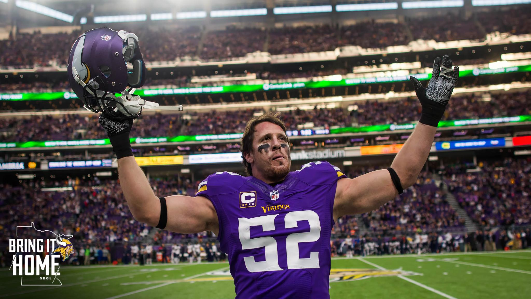 .@chadgreenway52 will serve as the honorary captain for #NOvsMIN!   ��: https://t.co/jYTxivvp1F https://t.co/jDym25UFH3
