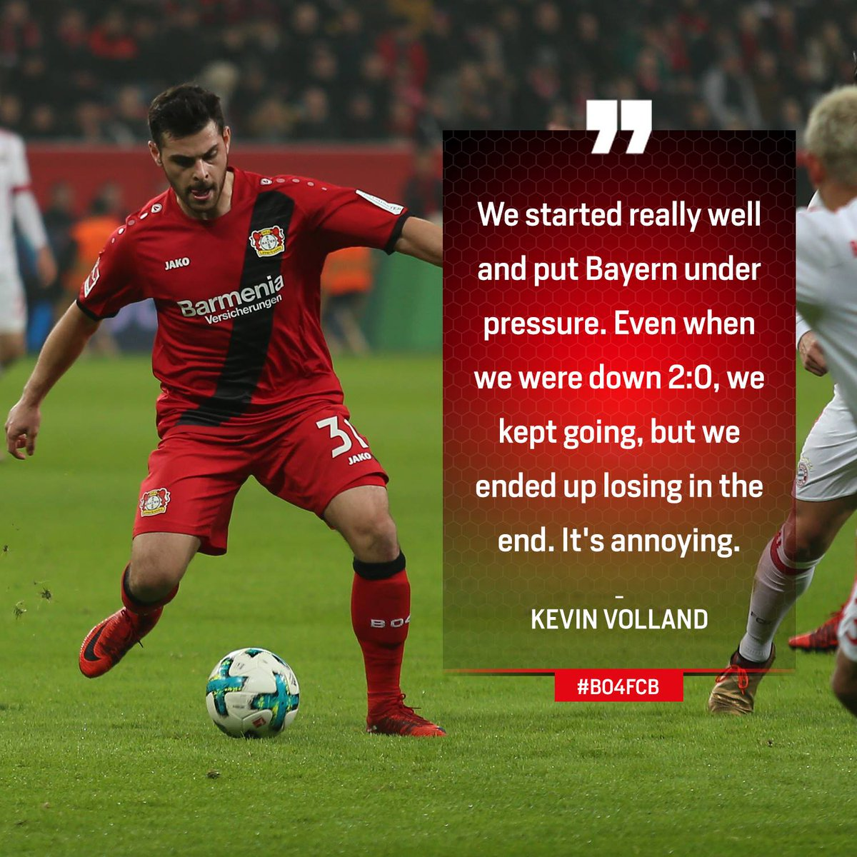 "RT @bayer04_en: ""It's annoying."" - Kevin Volland describes the result in #B04FCB https://t.co/a4eu7iA5RI"