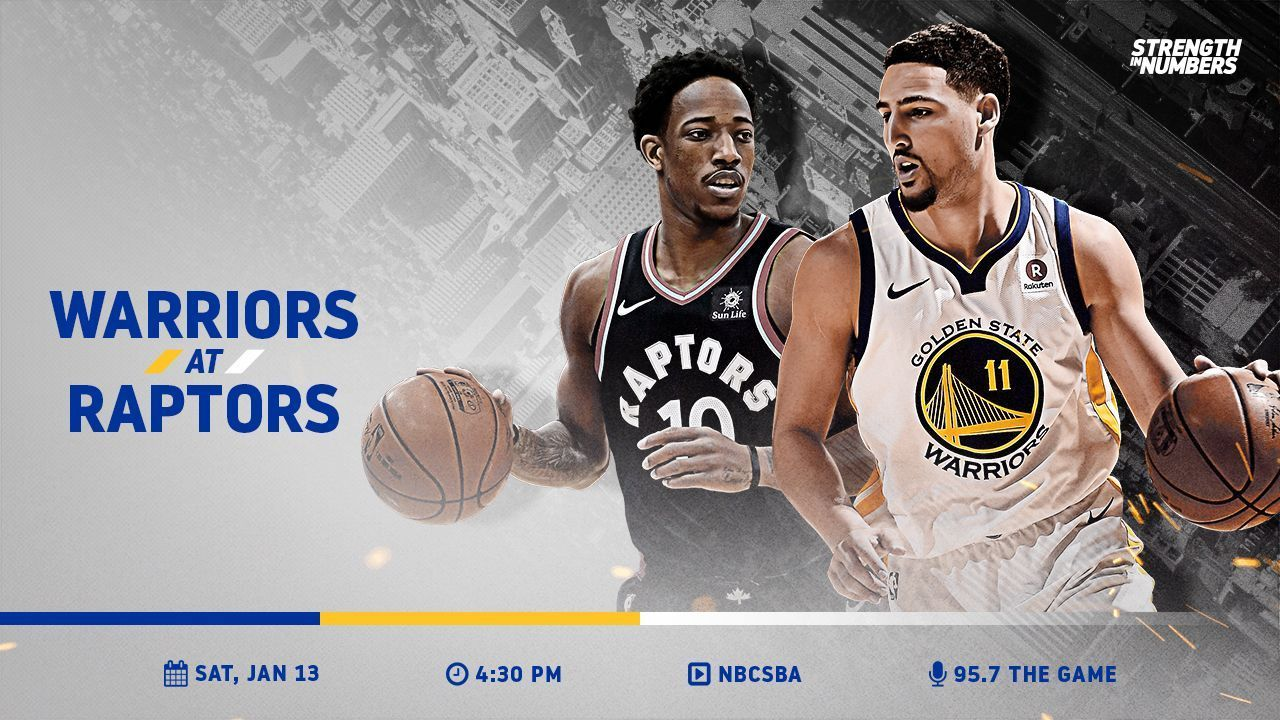 IT'S GAME DAY! The Dubs square off against the @Raptors in Toronto » https://t.co/vKLGRfCfg4 https://t.co/qkgDiJ3iOC