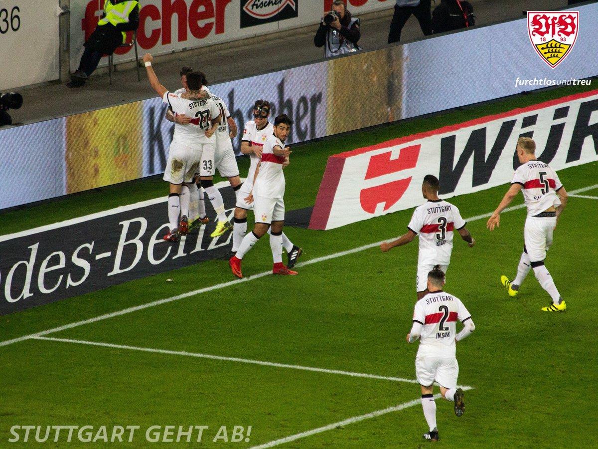 RT @VfB_int: HOME WIN CELEBRATIONS!   ⚪️🔴⚪️ #VfB #VfBBSC 1-0 https://t.co/8lxAJEkVO1