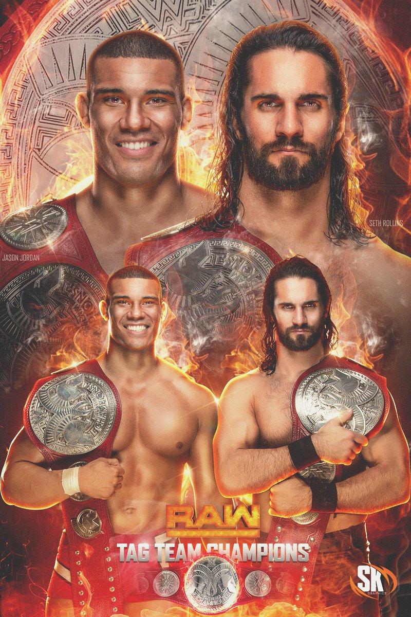 RT @SKGraphics_: .@WWERollins & @JasonJordanJJ #RAW #TagTeamChampions #WWEFanArt #SethRollins #JasonJordan #WWE https://t.co/CAfTHgDAqi
