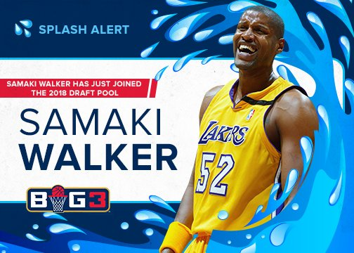 RT @thebig3: SPLASH ALERT ???? Catch @samaki_walker in action this summer for #BIG3Season2 ???? https://t.co/Upo477q163