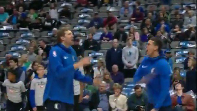 The @dallasmavs prep for matinee basketball!  #MFFL x  #LakeShow   Tip off NOW on #NBA League Pass https://t.co/NYdg5ghaw3