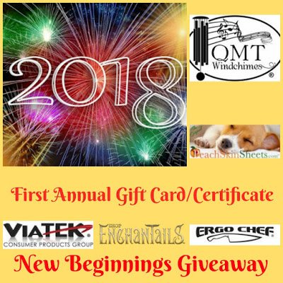 2018 First Annual GC/Certificate New Beginnings Giveaway