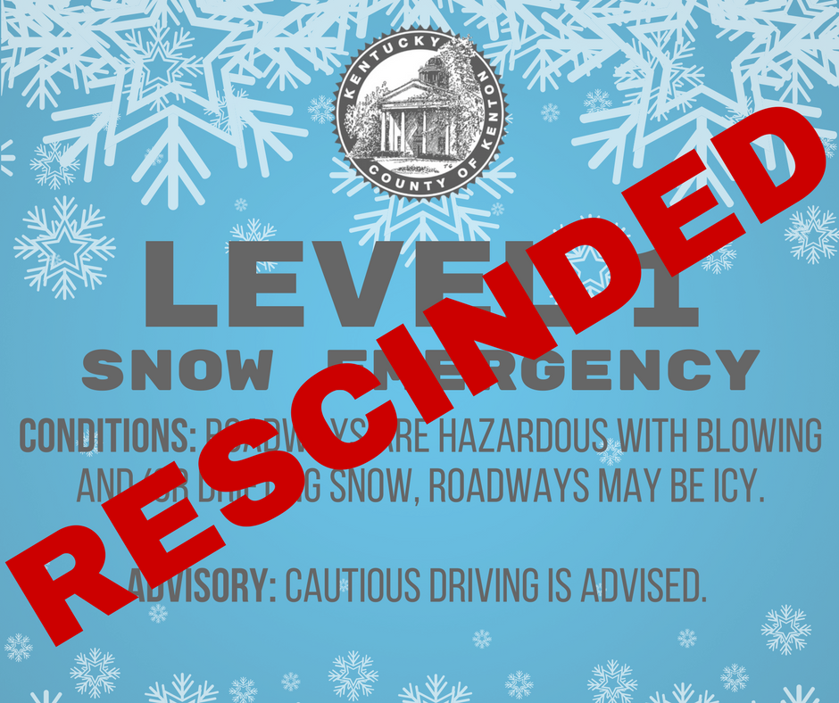Level 1 Snow Emergency