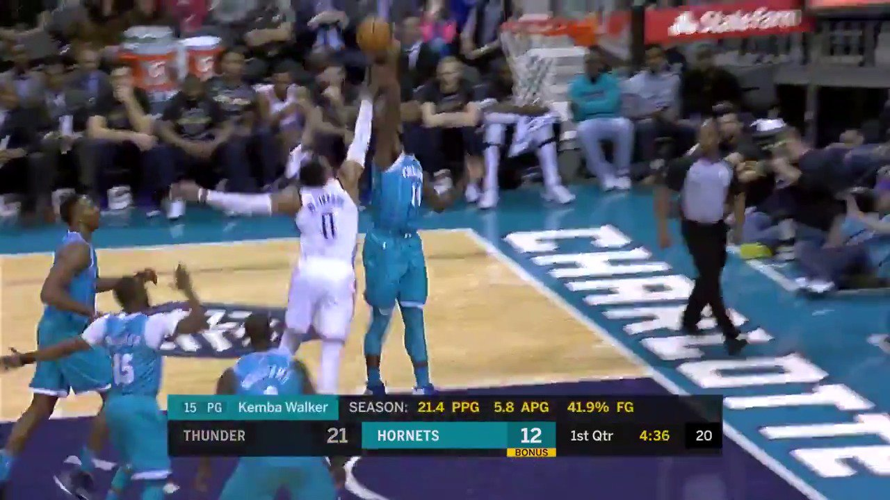 Michael Kidd-Gilchrist protects the rim for the @hornets!  #BuzzCity https://t.co/yYx2fB1EmA