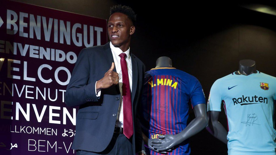 �� The best pictures from Yerry Mina's Camp Nou unveiling! ➡️ https://t.co/C46sKBoNp0 https://t.co/123pOvir7u