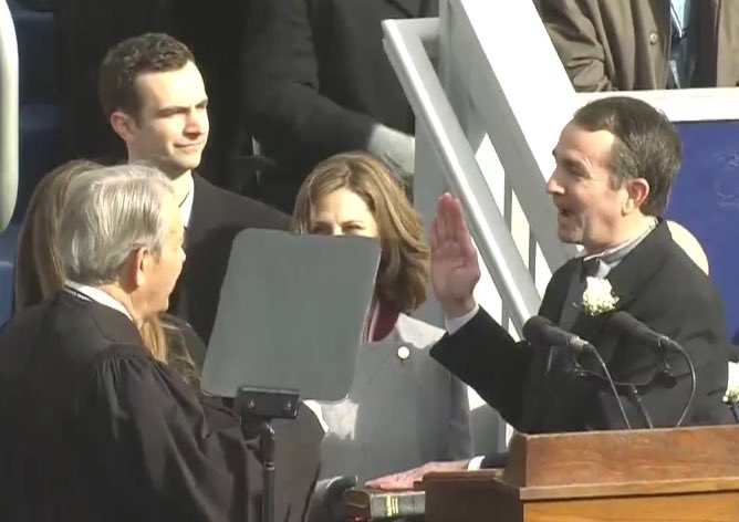 Ralph Northam sworn in as Virginia governor https://t.co/ixBvUwT7nL https://t.co/T0vv5pkyLx