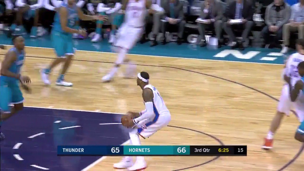 Melo gets to his spot! #ThunderUp https://t.co/zhh0ou4qzf