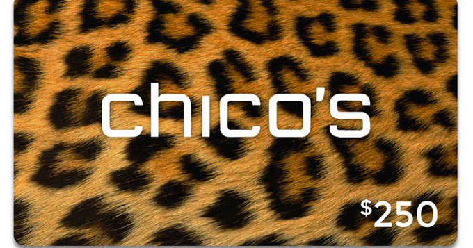 Chico's Gift Card Giveaway