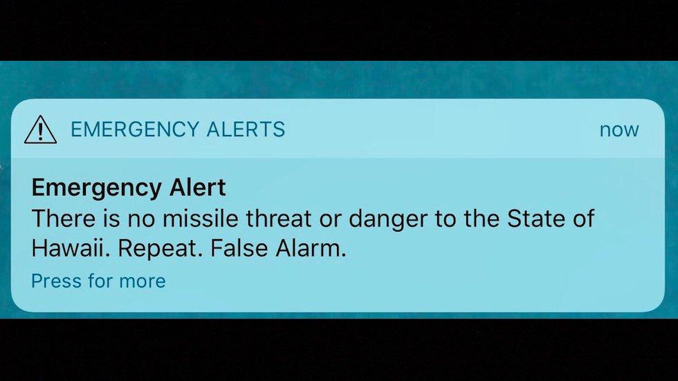 Hawaii House Speaker rips delay in correcting false alarm: The system 'failed miserably' https://t.co/TSoySOcwwV https://t.co/8uQaI8C0PV