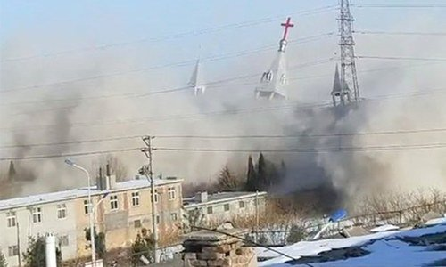 China blows up 'illegal' mega-church