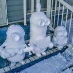 RT : ナカマ〜^_^ #雪像 #一人雪祭り #雪だるま職人 #雪だる...