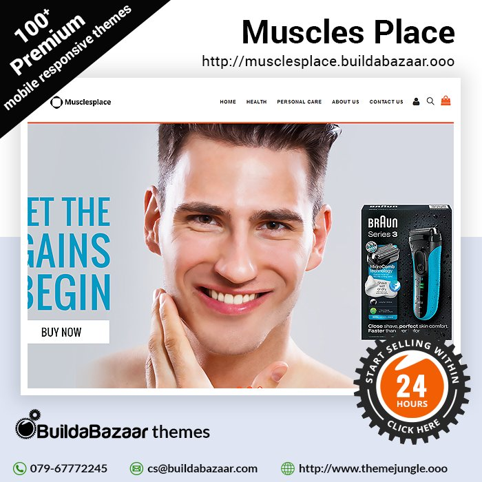 test Twitter Media - Your Gym/Fitness centre is place for your clients to shape their body. With Muscles Place theme at https://t.co/fxNsvLfNX9 you choose the look you desire. https://t.co/Fp4sVGWmU4 #infibeam #buildabazaar #themejungles #buildabazaarthemes https://t.co/Cx2mkvHELy