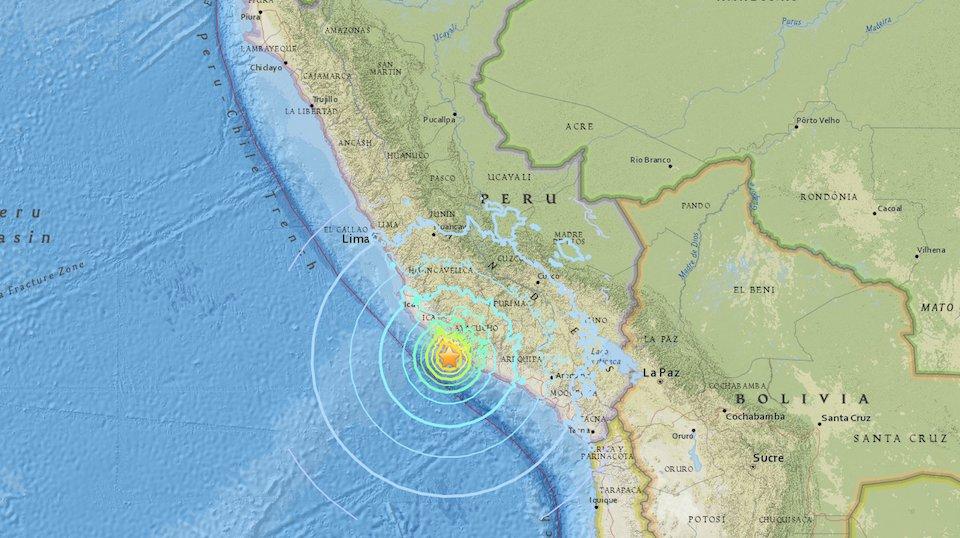 Sismo de magnitud 7,1 sacude a Perú; se reportan al menos 20 heridos leves en Arequipa https://t.co/5AUx0X94sS https://t.co/A4HmDHXPHo