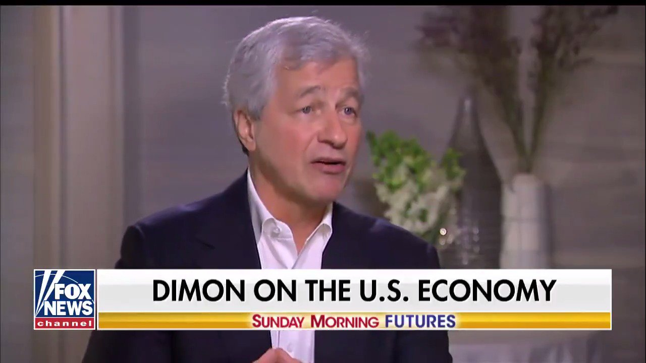 .@jpmorgan CEO Jamie Dimon: 'I think 4% is possible.' #SundayFutures https://t.co/n5MA8ZWDVq