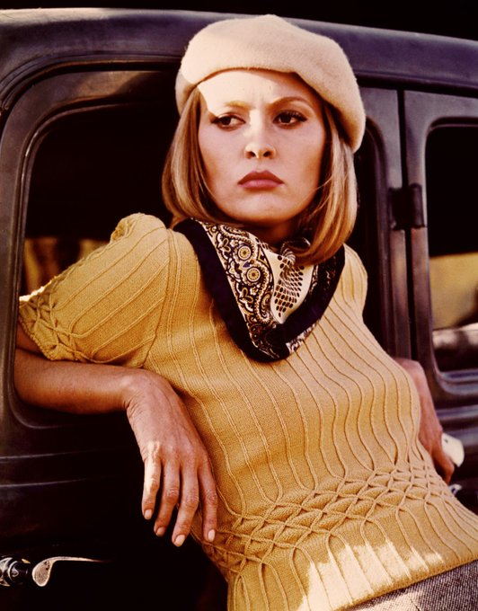 "Happy Birthday 77th Birthday Faye Dunaway! ""We rob banks!\"" -as Bonnie Parker in Bonnie and Clyde"