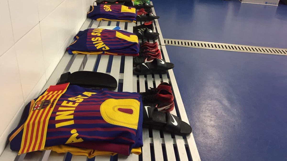 RT @FCBarcelona: ⚽️ #RealSociedadBarça ???? The dressing room is ready! ???? Let's go guys! ???????? https://t.co/chMsi9qZDs