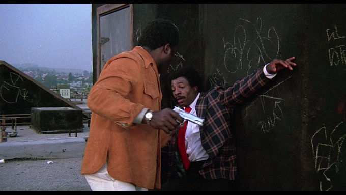 Happy birthday to Carl Weathers!  Here, in his first onscreen fight, against Yaphet Kotto in Friday Foster (1975).