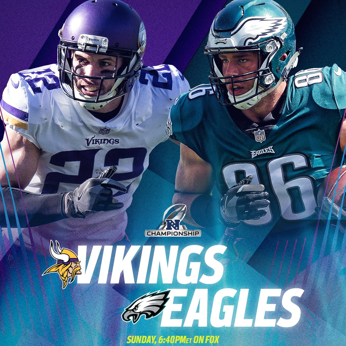 RT @NFL: .@Vikings. @Eagles.  See you on Championship Sunday. #NFLPlayoffs #MINvsPHI https://t.co/5Rg6deKMdb