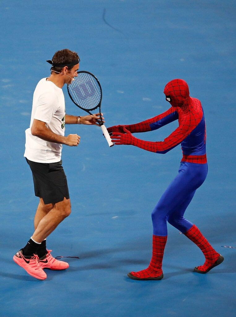 Hey Spiderman can you string my racket? ���� https://t.co/UUjiPkNotu