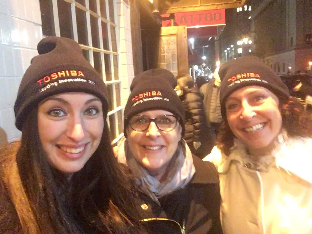 test Twitter Media - Thank you to our partners @toshibagcs for a great party!! These hats are keeping us warm on this chilly NYC night! #nrf2018 https://t.co/c8nPSCaZ2s