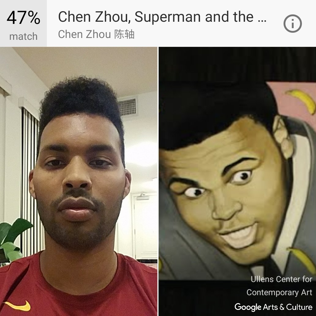 Does this artwork look like me? Try with your own #selfie at https://t.co/CjYciqUagF #GoogleArts https://t.co/XfguVzYFv4