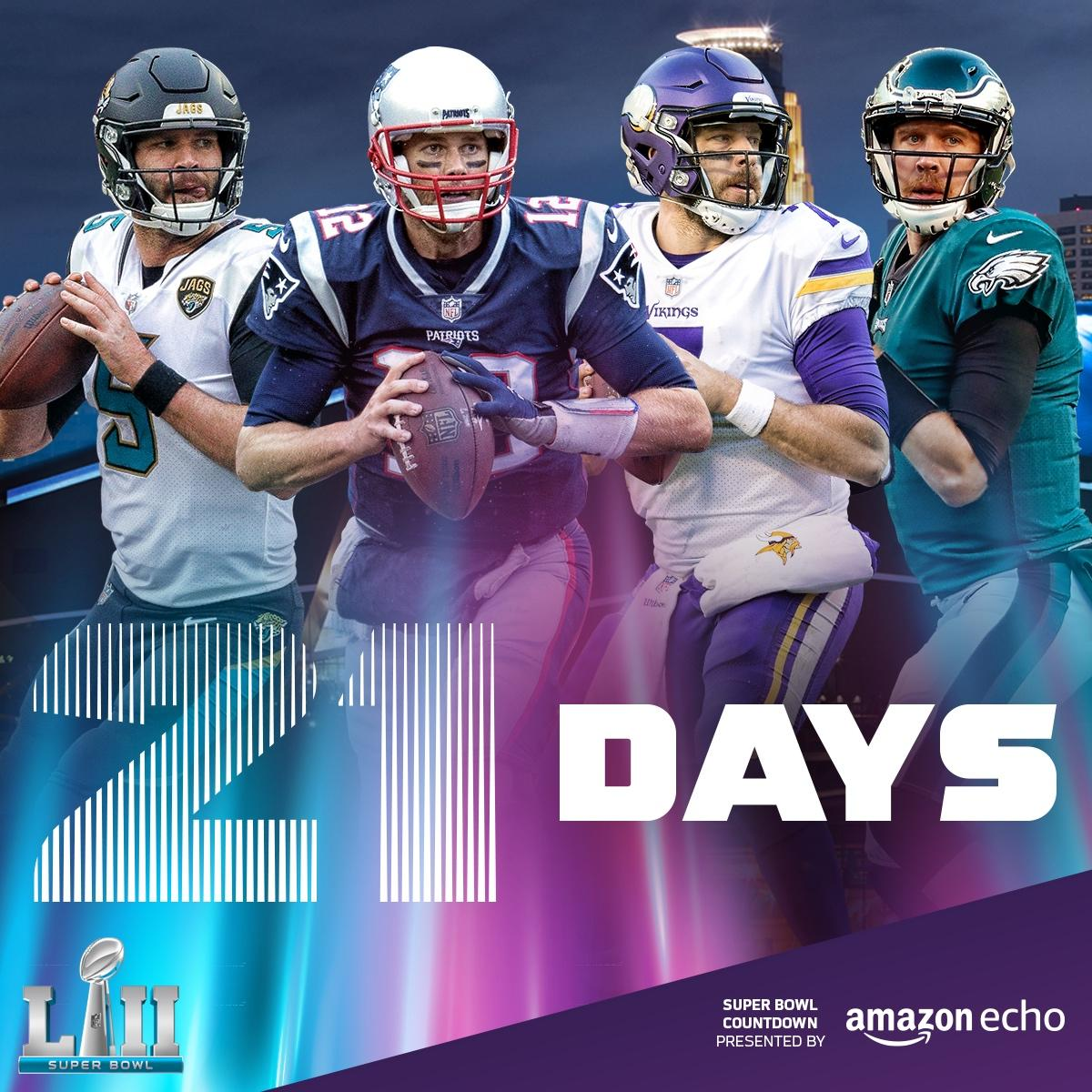 21 Days until #SBLII!  (by @amazonecho) https://t.co/mge5e09Q3F