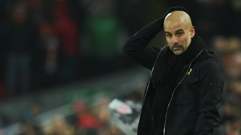 Guardiola urges City to learn from Anfield pain