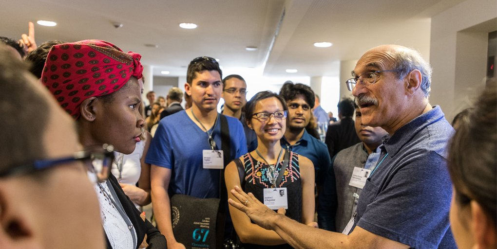 test Twitter Media - Happy birthday #NobelLaureate Martin Chalfie, congratulations from Lindau! Prof. Chalfie, co-recipient of the 2008 @NobelPrize in Chemistry for the discovery #GFP, is a dear friend of the Lindau Meetings. Here he is in interaction with #LiNo17 young scientists. https://t.co/Px0p3jDA2i